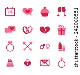 illustration trendy flat icons... | Shutterstock .eps vector #242060551
