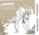 taekwondo background design.... | Shutterstock .eps vector #242062687