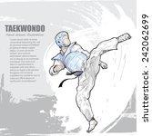 taekwondo background design.... | Shutterstock .eps vector #242062699