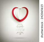 valentine's day background with ... | Shutterstock . vector #242065615