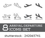 aircraft or airplane icons set... | Shutterstock .eps vector #242065741