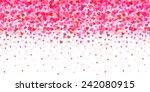 valentine heart background | Shutterstock .eps vector #242080915