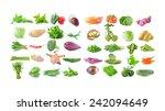 vegetable on white background | Shutterstock . vector #242094649