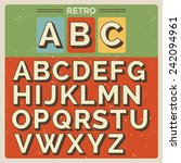 retro vector latin type  font   ... | Shutterstock .eps vector #242094961