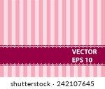 luxury pink vintage background... | Shutterstock .eps vector #242107645