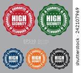 vector  high security guarantee ... | Shutterstock .eps vector #242107969