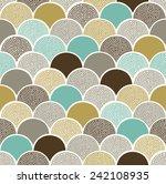 seamless doodle dots scallop... | Shutterstock .eps vector #242108935