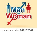 man and woman text  sign ... | Shutterstock .eps vector #242109847