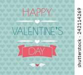 card for valentine's day.... | Shutterstock .eps vector #242114269