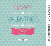 card for valentine's day.... | Shutterstock .eps vector #242114389