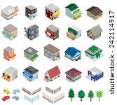 various building   solid figure | Shutterstock .eps vector #242114917