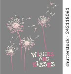 wishes and kisses girls tshirt... | Shutterstock .eps vector #242118061