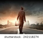 back view of businessman... | Shutterstock . vector #242118274