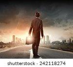 back view of businessman... | Shutterstock . vector #242118274