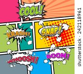 comic template vector pop art  | Shutterstock .eps vector #242118961