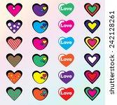 vector hearts set. | Shutterstock .eps vector #242128261