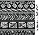 tribal vintage ethnic seamless... | Shutterstock . vector #242145001