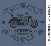 motorcycle vintage graphics  t... | Shutterstock .eps vector #242150269