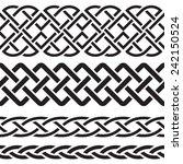 set of celtic pattern borders | Shutterstock .eps vector #242150524