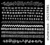 hand drawn vector line border... | Shutterstock .eps vector #242155081