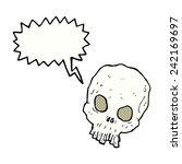 cartoon spooky skull with... | Shutterstock .eps vector #242169697