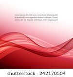 abstract red wavy background | Shutterstock .eps vector #242170504