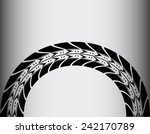 tire track background | Shutterstock .eps vector #242170789