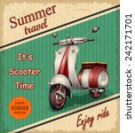 summer travel retro poster with ...   Shutterstock .eps vector #242171701