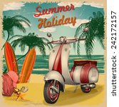 summer holidays poster with... | Shutterstock .eps vector #242172157