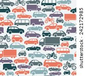 seamless pattern with colorful... | Shutterstock .eps vector #242172985