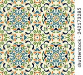 vintage seamless pattern with... | Shutterstock .eps vector #242173285