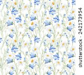 wildflowers  campanula  daisy ... | Shutterstock . vector #242173954