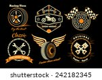 racing badges. themed logos ... | Shutterstock . vector #242182345