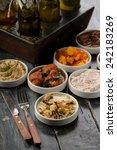various types of tapas | Shutterstock . vector #242183269