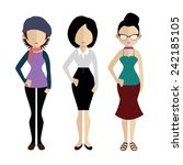 set of people icons in flat... | Shutterstock .eps vector #242185105