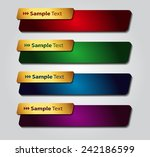 colorful modern text box... | Shutterstock .eps vector #242186599