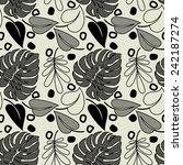 art black graphic geometric... | Shutterstock .eps vector #242187274