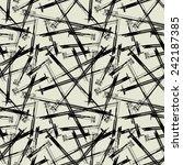 art black graphic geometric... | Shutterstock .eps vector #242187385