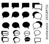 speech bubble flat icons.vector | Shutterstock .eps vector #242189731