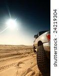 truck in desert | Shutterstock . vector #24219304
