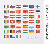 european countries flat flags... | Shutterstock .eps vector #242193871