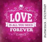 Love Forever Vector Greeting...