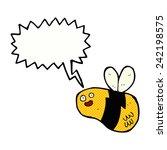 cartoon bee with speech bubble | Shutterstock .eps vector #242198575