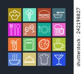 set of simple icons for bar ... | Shutterstock .eps vector #242198827