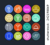 set of simple icons for bar ... | Shutterstock .eps vector #242198869