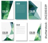 set of colorful modern abstract ... | Shutterstock .eps vector #242200339