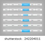 collection of gray navigation... | Shutterstock .eps vector #242204011