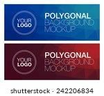 horizontal polygonal banners | Shutterstock .eps vector #242206834