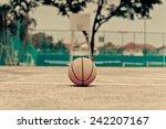 Basketball On Urban Court....