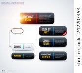 modern organization chart... | Shutterstock .eps vector #242207494